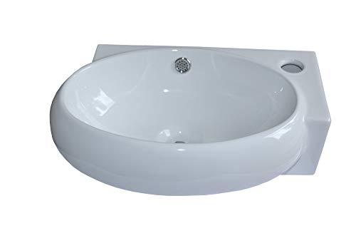 1 x Keramikwaschbecken Waschbecken Keramik weiß,...