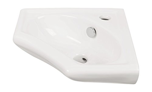 'aquaSu Eckhandwaschbecken scaLma | 34 cm | Weiß...