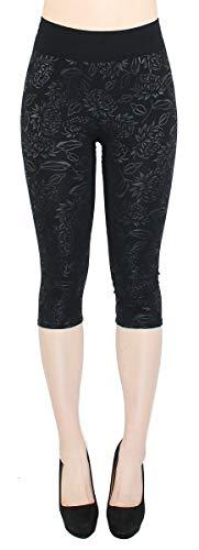 dy_mode Damen Capri Leggings 3/4 Kurze Leggings...