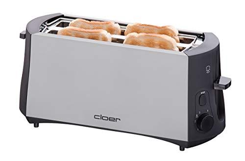Cloer 3710 Langschlitztoaster für 4 Toastscheiben...