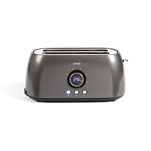 Toaster 4 Scheiben mit Digitaler Anzeige -...