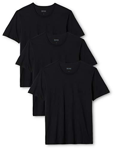 BOSS Herren RN 3P CO T-shirt, 3er Pack, Schwarz...