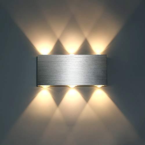 Lightess 6W Wandlampe LED Wandleuchte Innen Modern...