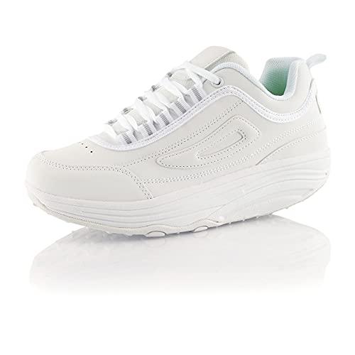 Fusskleidung® Damen Herren Sneaker Abrollsohle...