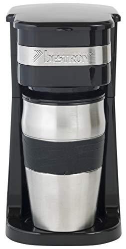 Bestron Kaffeemaschine mit Isolierbecher, Für...