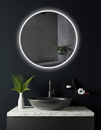 HOKO® Runder LED Bad Spiegel ULM 60cm, mit...