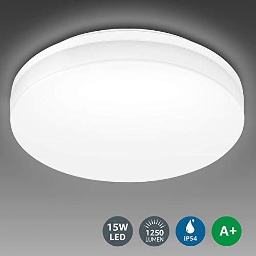 Lighting EVER 15W Deckenlampe, IP54 Wasserfest...
