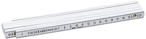 Perel 3412-2 Glasfaser Gliedermaßstab, 2 m Länge...