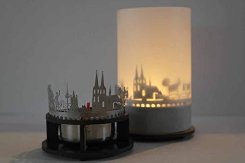 13gramm Köln-Skyline Windlicht Schattenspiel...