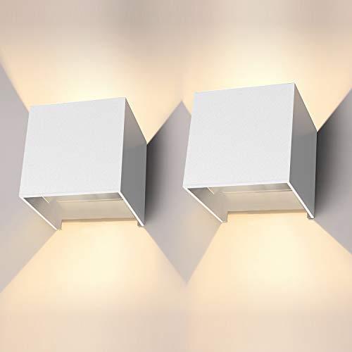 LED Wandleuchte 12W 2er Pack Modern High Bright...