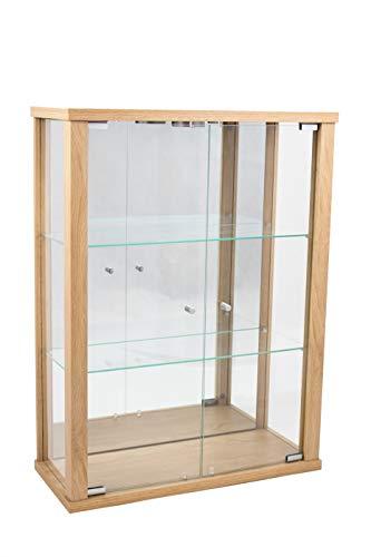 K-Möbel Glasvitrine in Buche (80x60x25 cm) mit 2...
