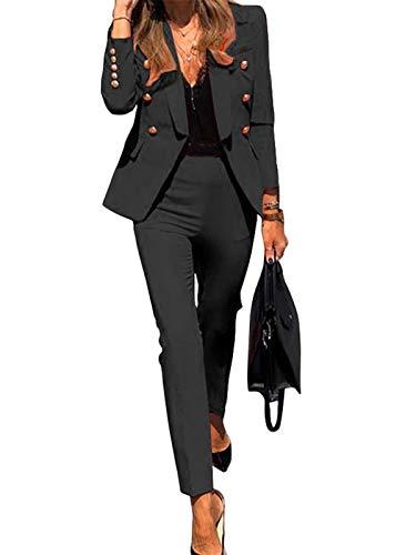 Minetom Damen Zweiteiliger Anzug Set Revers...