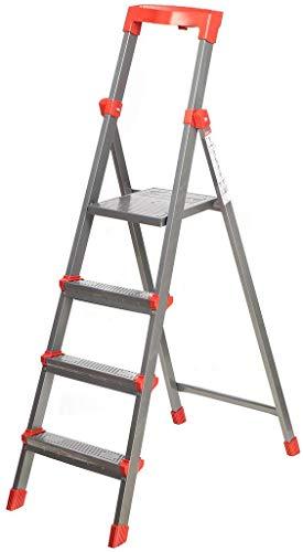 Nika Stehleiter Trittleiter 4 Stufen aus Stahl,...