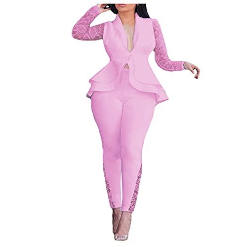 Briskorry Damen Zweiteiliger Anzug Set Revers...