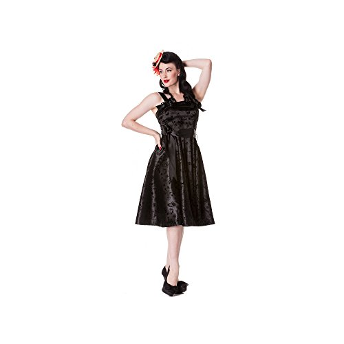 Hell Bunny - Tattoo Flock Dress Rockabilly Kleid...