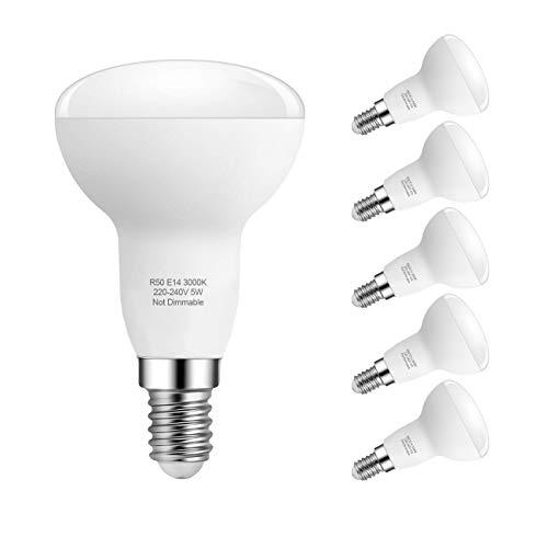 5W E14 LED Lampe, R50 Reflektorlampe, Warmweiß...