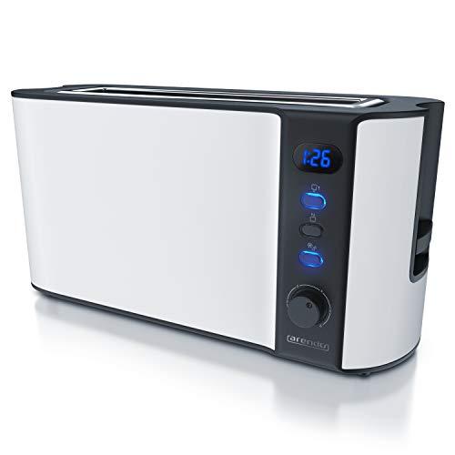 Arendo - Toaster Langschlitz 2 Scheiben - Defrost...