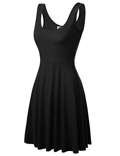 DJT Damen Vintage Sommerkleid Traeger mit...
