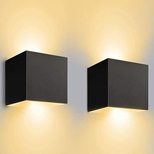 12W LED Wandleuchten Innen/Außen 2 Stücke...