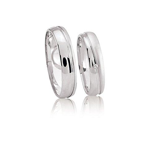 JC Trauringe 925er Sterling Silber Paar-Preis I...