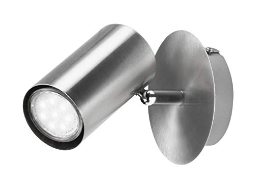 Moderner LED Wandstrahler für Innen in Nickel...