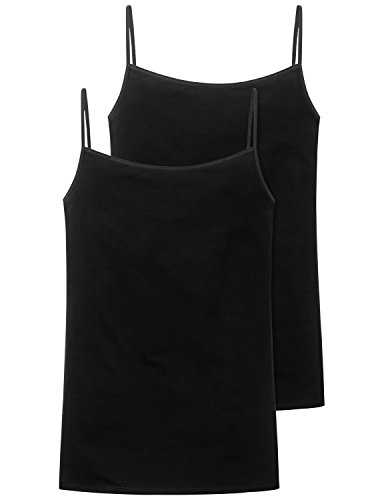 Schiesser Damen Spaghettitop (2er Pack) Unterhemd,...