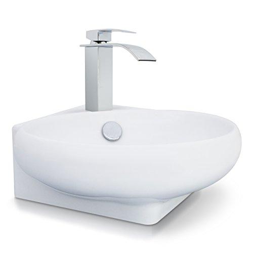 VENKON - Eckwaschbecken Waschbecken mit NANO...