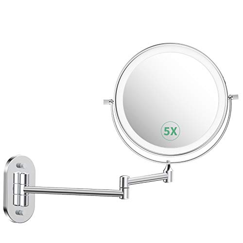 alvorog Kosmetikspiegel LED Beleuchtet mit 1x/5x...