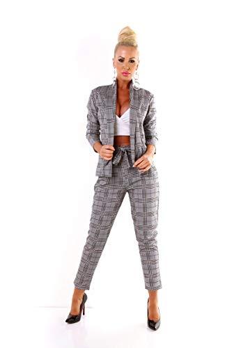 OSAB-Fashion 5423 Damen Hosenanzug Blazer Hose...