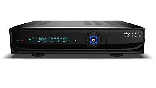 sky vision Twin Sat Receiver 2200 S-HD mit 1TB HDD...
