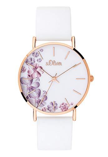 s.Oliver Damen Analog Quarz Armbanduhr mit...