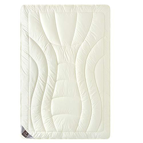 sei Design Wolle Duo-Bettdecke Premium Qualität...