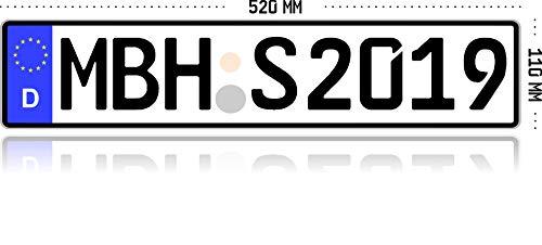 MBH-Shop KFZ Kennzeichen Autokennzeichen...