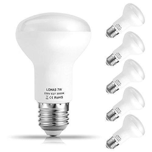 5er Pack LOHAS 7W E27 LED Lampen, Reflektor...