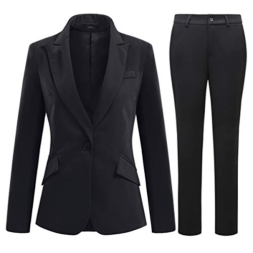 YYNUDA Hosenanzug Damen Business Outfit Slim Fit...