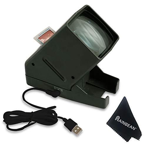 RAINBEAN 35-mm-Diaprojektor, USB tragbares Negativ...