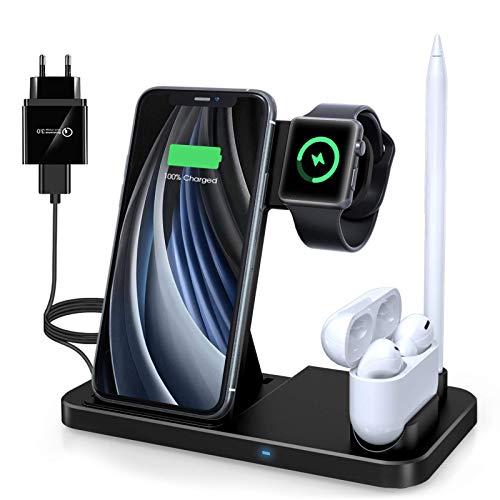 Wireless Charger,4 in 1 Induktive ladestation Mit...