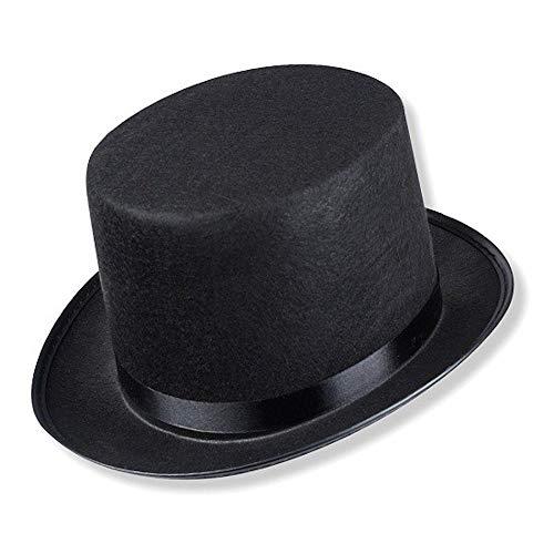 Schramm® Zylinder Hut mit Satinband Schwarz für...