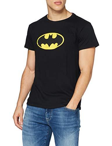 MERCHCODE Herren Batman Logo Tee T-Shirt, Black,...