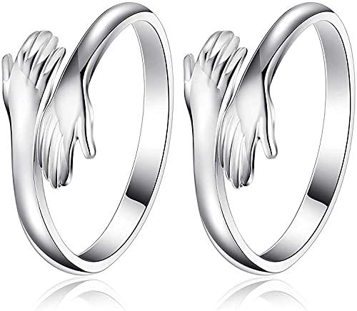 HENGBIRD 2PCS Umarmende Hände Verstellbarer Ring,...
