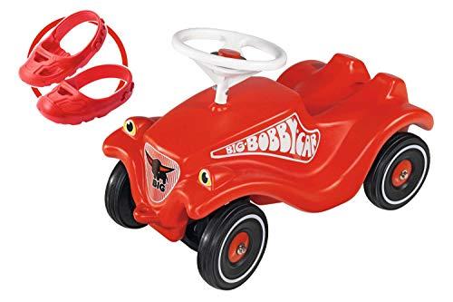 BIG 800056106 Bobbycar Set mit Flüsterräder und...