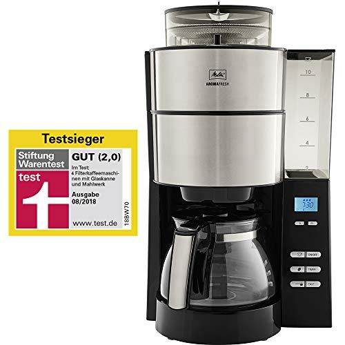 Melitta 1021-01 Filter-Kaffeemaschine, Rostfreier...