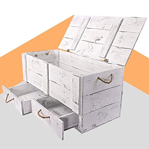Obstkisten-online Vintage Truhe - Holztruhe mit...