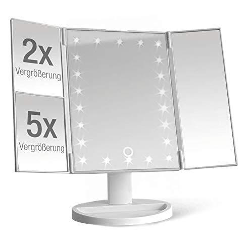 Kosmetikspiegel beleuchtet mit 22 LEDs - Tisch...