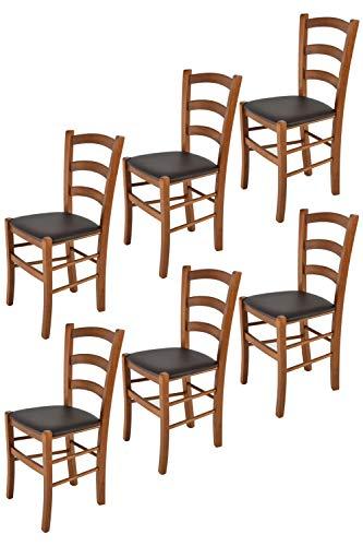 Tommychairs - 6er Set Stühle Venice für Küche...