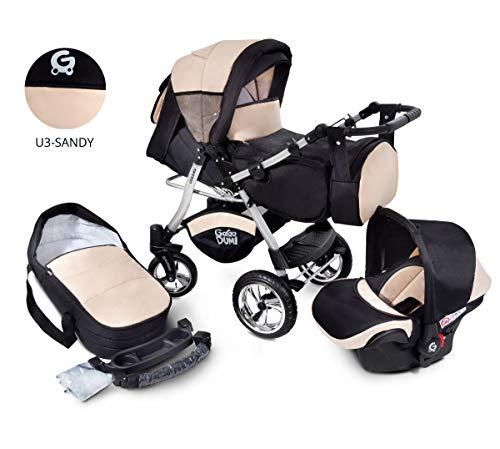 Urbano Kombikinderwagen Kinderwagen Babyschale...
