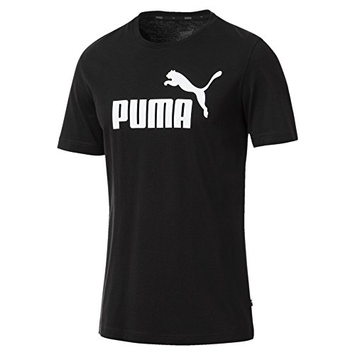Puma Herren ESS Logo Tee T-Shirt, Schwarz (Cotton...