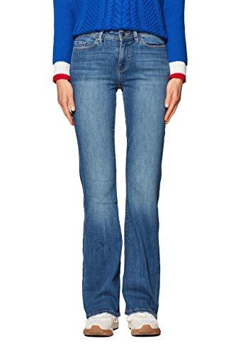 edc by ESPRIT Damen 998CC1B825 Bootcut Jeans, Blau...
