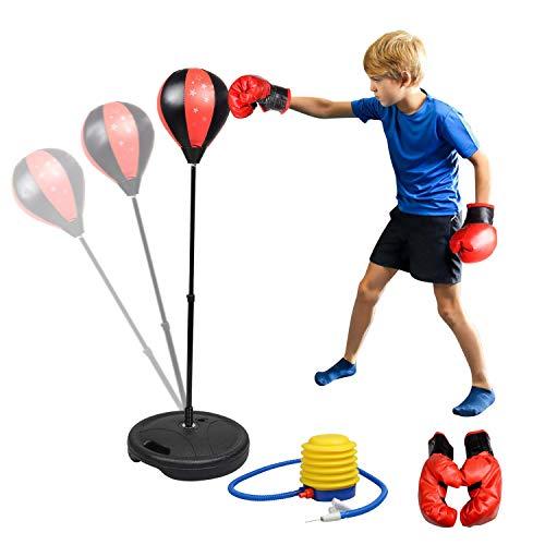 Punchingball Boxen Set mit Boxhandschuhen & Pumpe...