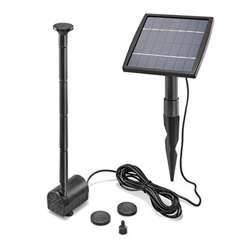 Solar Teichpumpe 1,5 Watt Solarmodul 140 l/h...